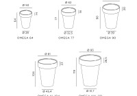 De Castelli - Omega inox dimensions