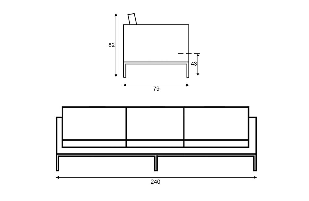 Dimension Canape Intérieur Déco - Longueur canapé 3 places