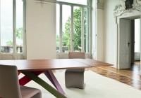 Bonaldo Big Table noyer detail