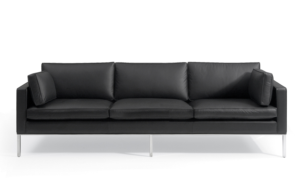 Pin canap cuir design trois places avec t ti res relax for Canape quotes