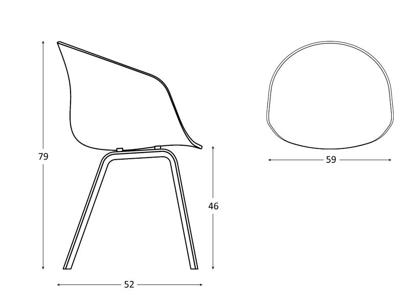 hd home design aac23 tissu lots de 2 chaises hay. Black Bedroom Furniture Sets. Home Design Ideas