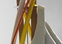 Horm porte-manteaux Twist multicolore détail