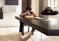 Lago - Table AIR Anthracite Ferro ambiance