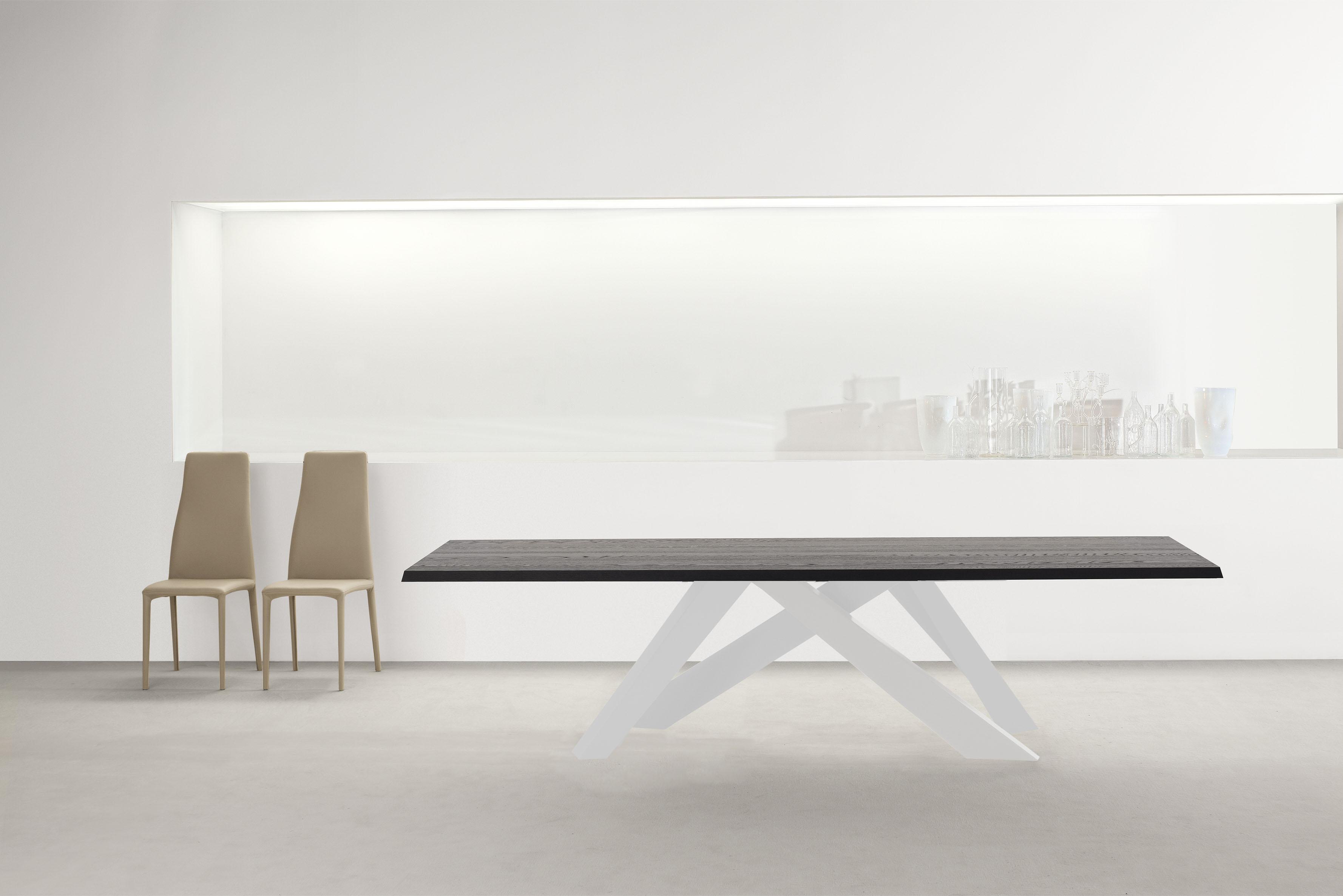 HD Home design | BIG TABLE, fixe 300×108 chene massif Anthracite ...